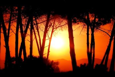 europa italia campania; tramonto sul litorale di eboli salerno