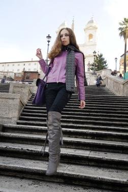Alla international model outdoor portrait